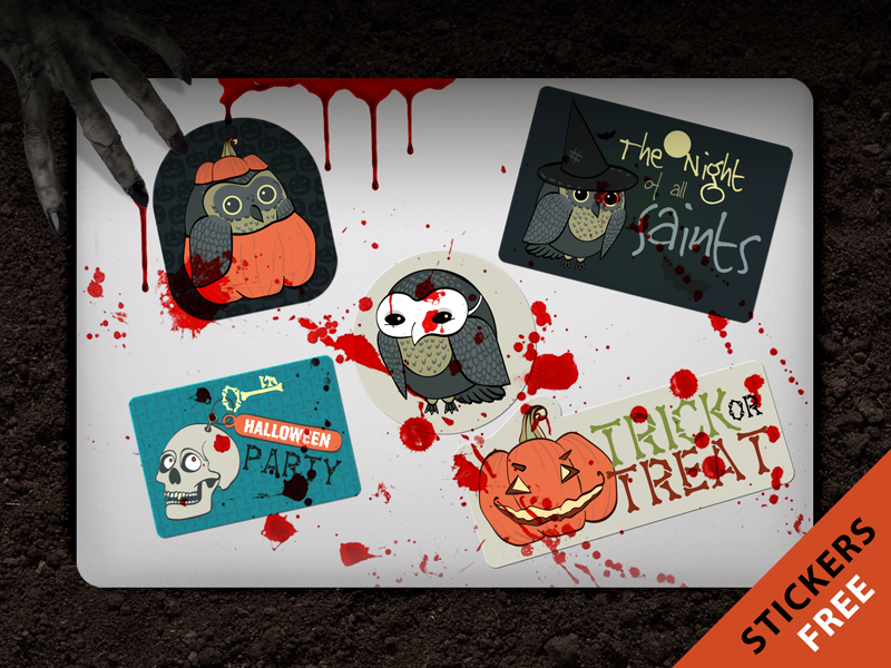 Stickers Mobili ~ Free halloween stickers halloween stickers and mobile ui
