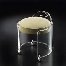 Small Round Acrylic Vanity Stool With Wheels 5021408301 Buy Clear Acrylic Vanity Stool 5021408301 Acrylic Stool 50214083 Vanity Stool Stool With Wheels Bench Vanity stool on wheels