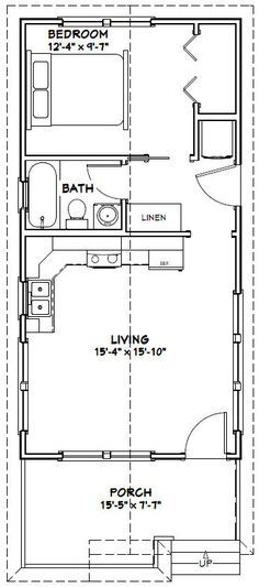 16x32 Tiny House 511 Sq Ft Pdf Floor Plan Model