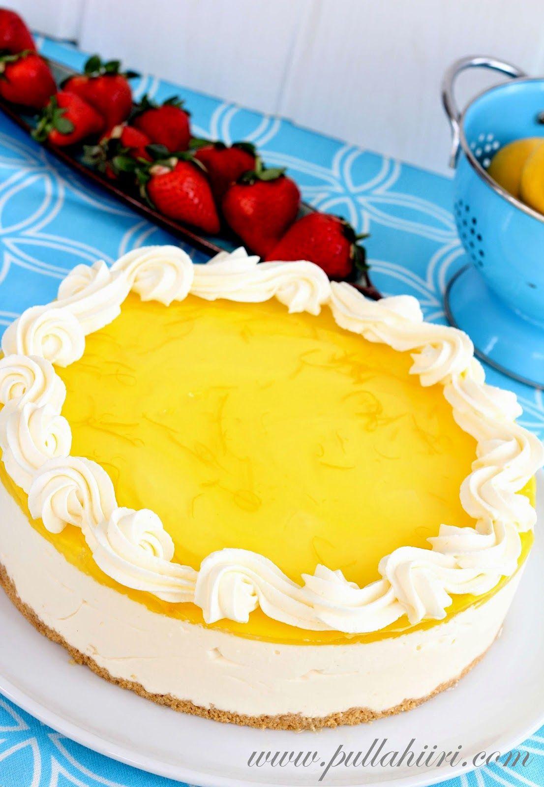 Pullahiiren leivontanurkka: Sitruunahyydykekakku - Lemon curd cheesecake