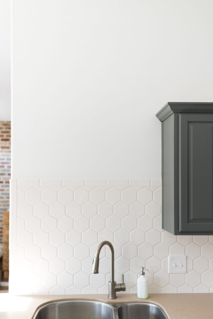 Charming Hexagon Tile In The Kitchen!