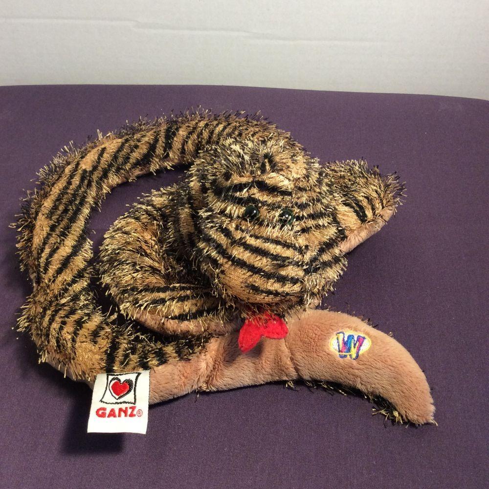 Ganz Webkinz Plush Striped Snake Hm206 Stuffed Animal Brown Black No Code 37 Webkinz Webkinz Pet Toys Plush Stuffed Animals [ 1000 x 1000 Pixel ]