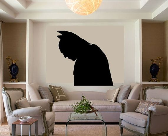 Batman Vinyl Wall Decal by ItsOnTheWallsDecals on Etsy, $20.00