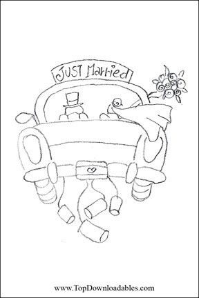 Just Married Coloring Page … | #MAIDENTOHADEN | Weddi…