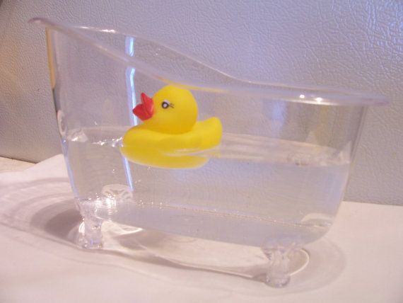 Clear Bathtub Table Centerpiece/favour   Party Table Decor   Baby Shower  Decorations/favours   Tub And Rubber Ducky Centerpiece