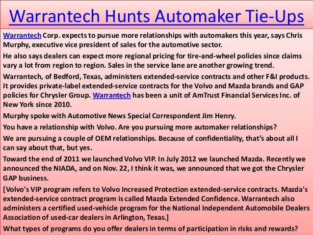 Warrantech-Extended-Warranty-Buyers-Beware-Crooks- Warrantech - vehicle service contract