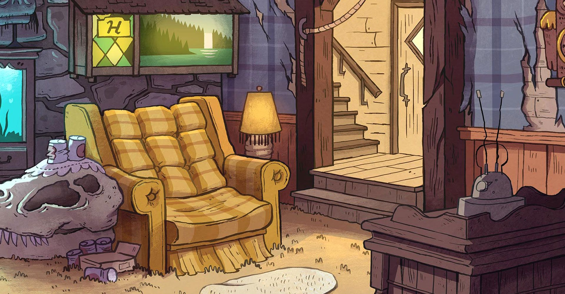 Game play gravity falls twin mystery vortex of doom for Waterfall in living room design