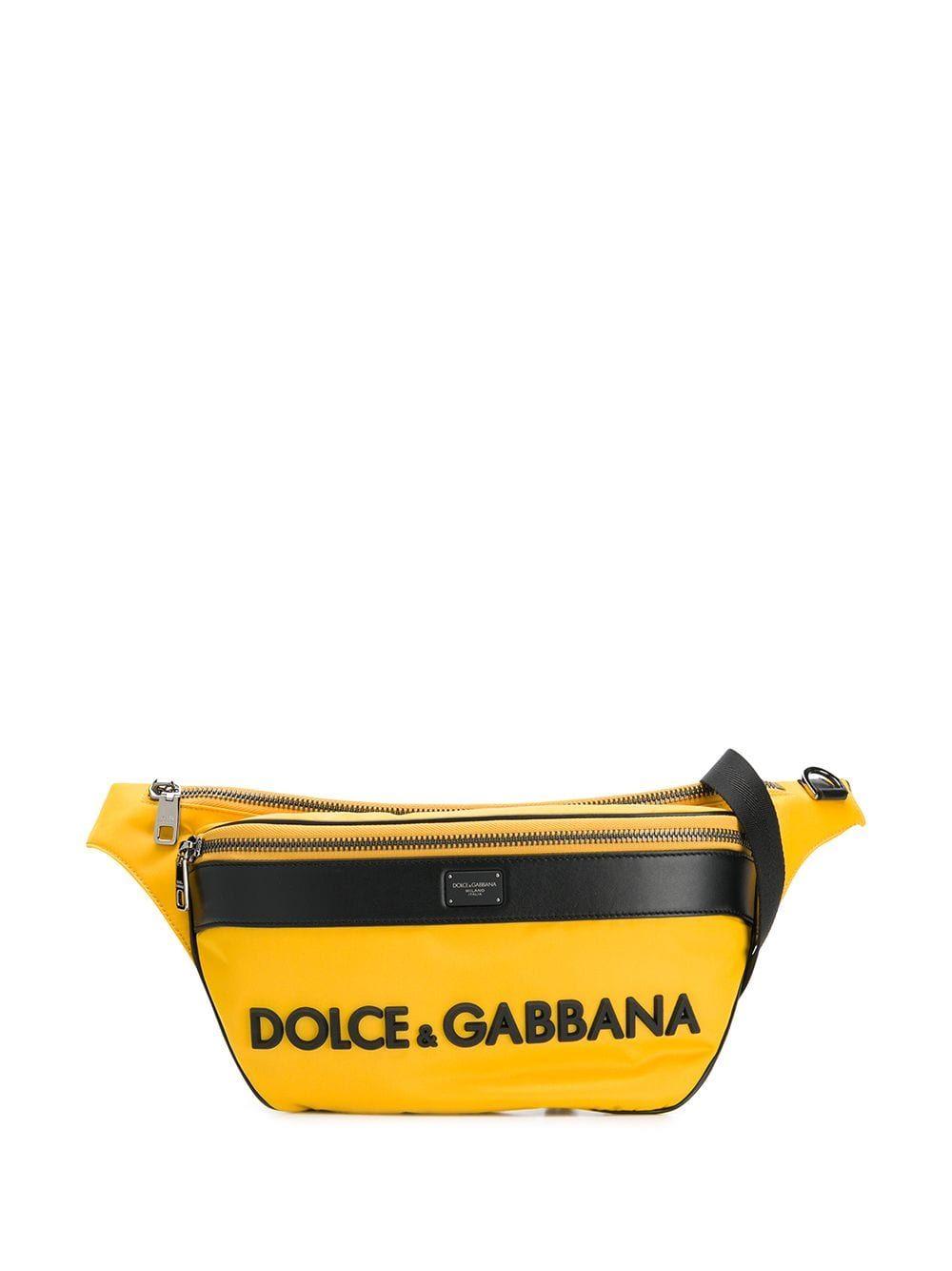 1877c46013c Dolce & Gabbana oversized logo belt bag - Yellow | Products in 2019 ...