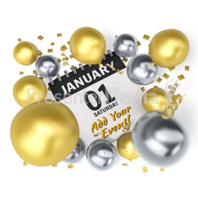 Add your own date and event info to the party calendar. #powerpoint #clipart #illustrations