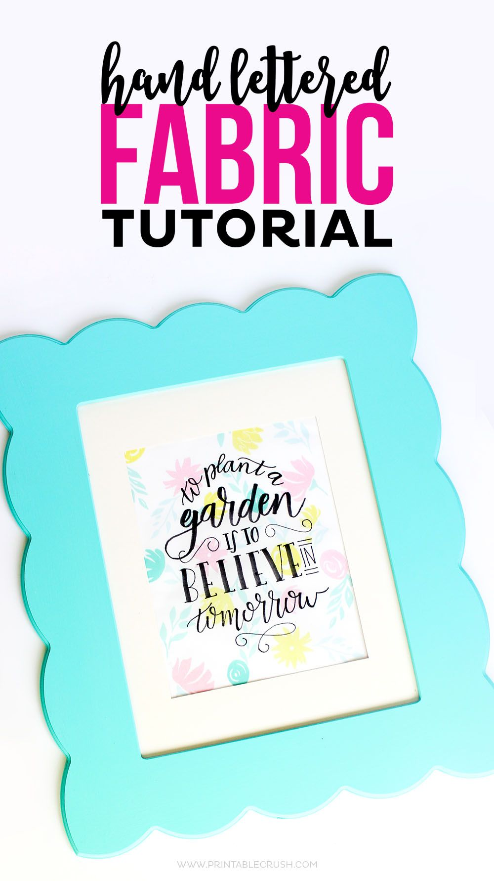 Hand Lettered Fabric Tutorial and FREE Hand Lettering Practice Sheet ...