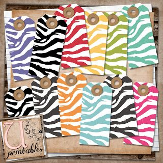 U printables by RebeccaB: FREE Printable - Zebra Tags