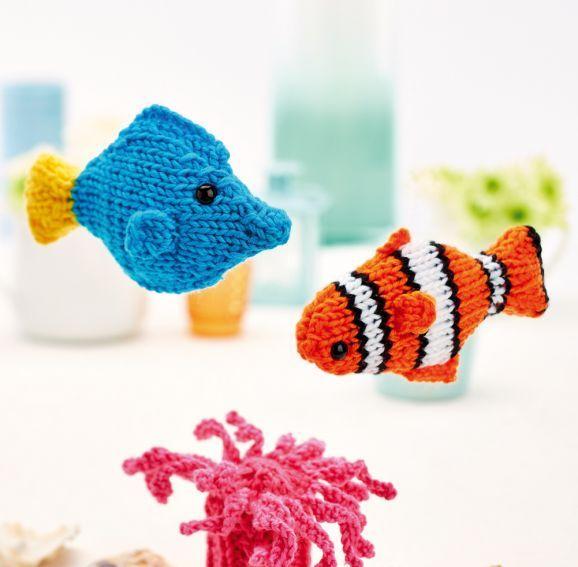 Clown fish and friends Cute knitting pattern.   Knitting   Pinterest ...