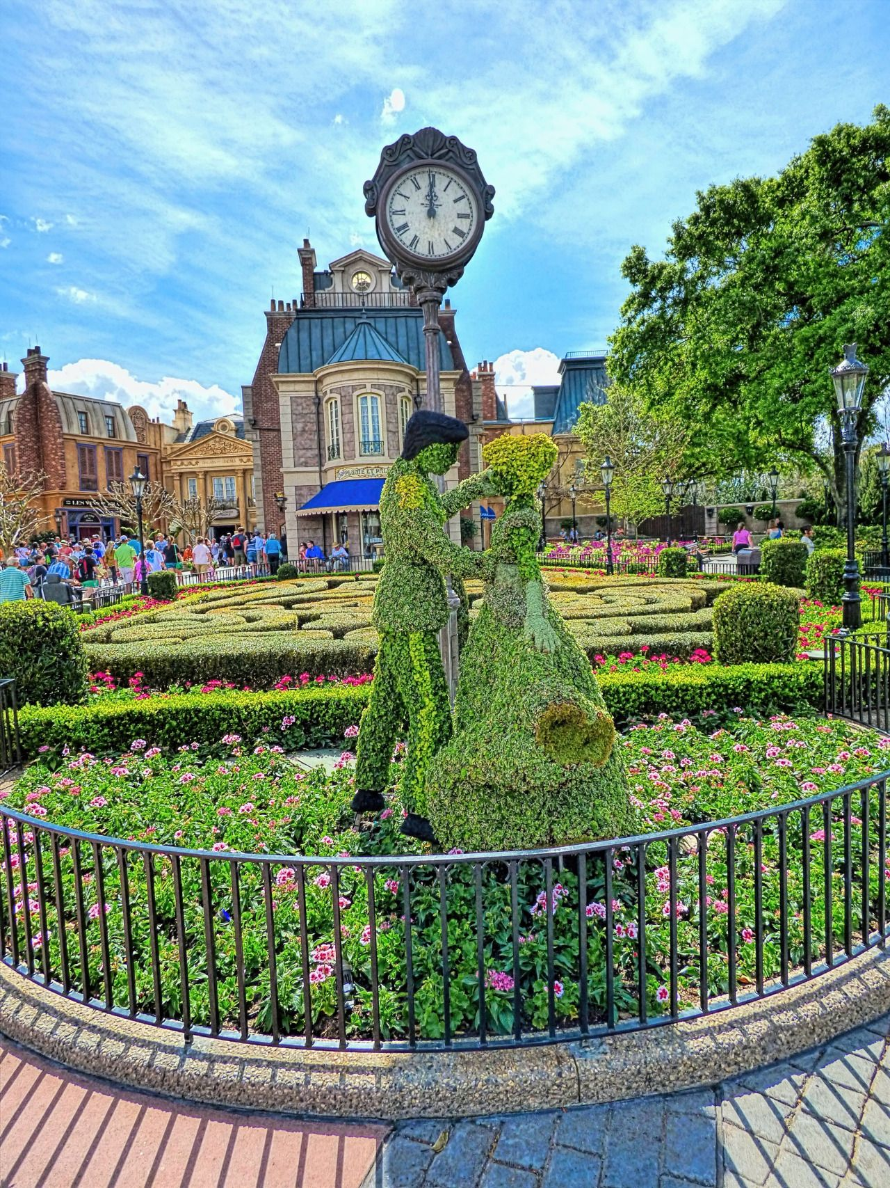Epcot's France Pavilion during 2015 Epcot International Flower & Garden Festival at the Walt Disney World Resort