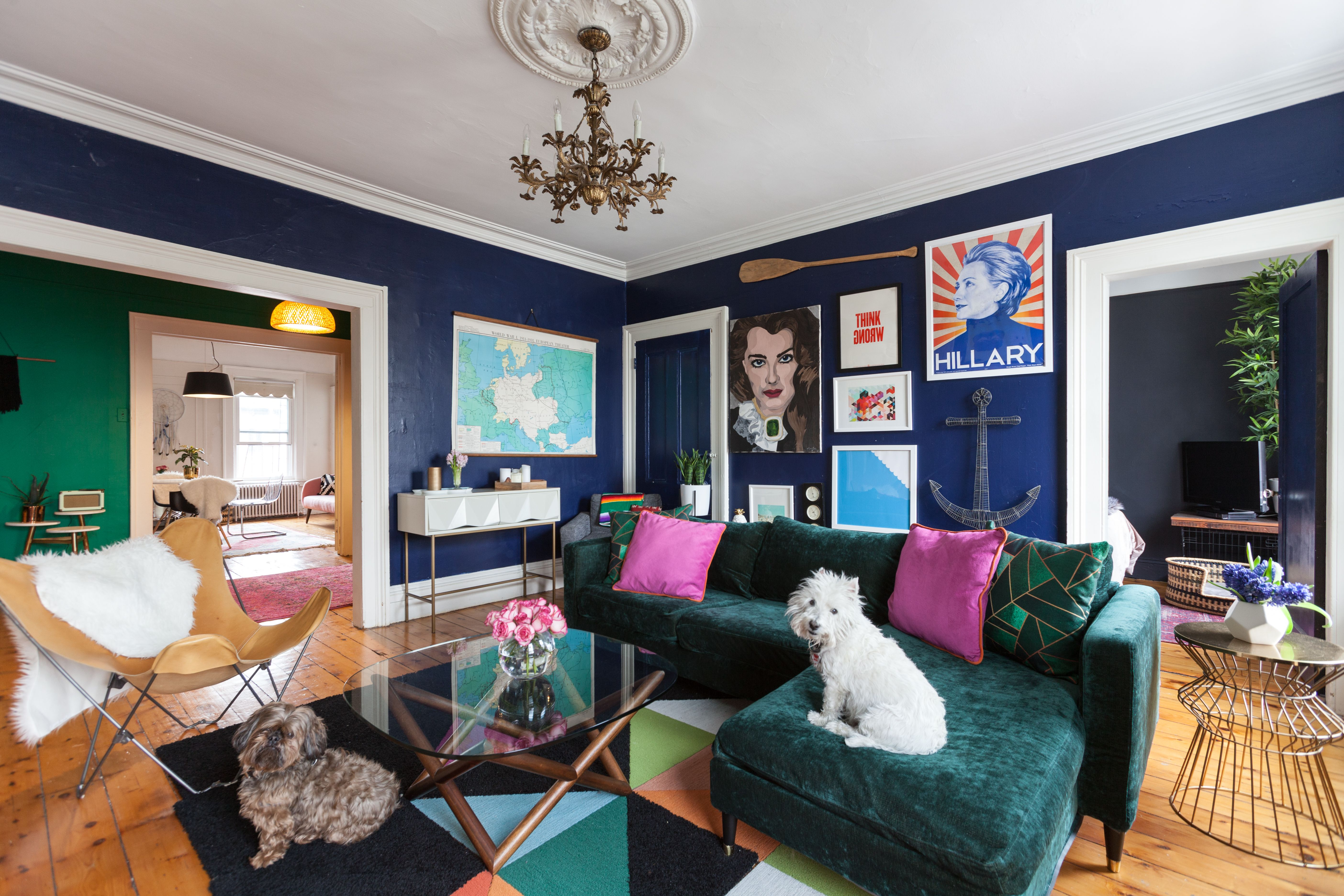 A Modern Meets Dog Obsessed Old Lady Eclectic Home Eclectic Home House Colors Home Decor