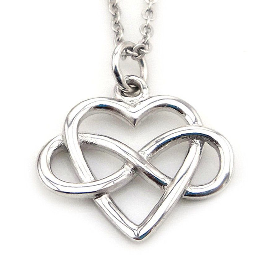 Infinity love heart necklace 925 sterling silver pendant best friend infinity love heart necklace 925 sterling silver pendant best friend jewelry unbrandedgeneric chain aloadofball Images