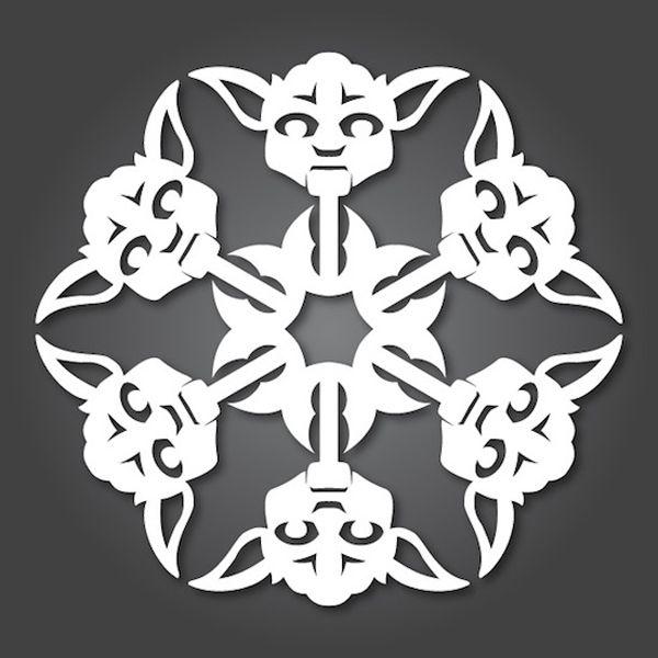 DIY Paper Yoda Snowflakes | Star Wars | Pinterest | Papel, Modelo y Arte
