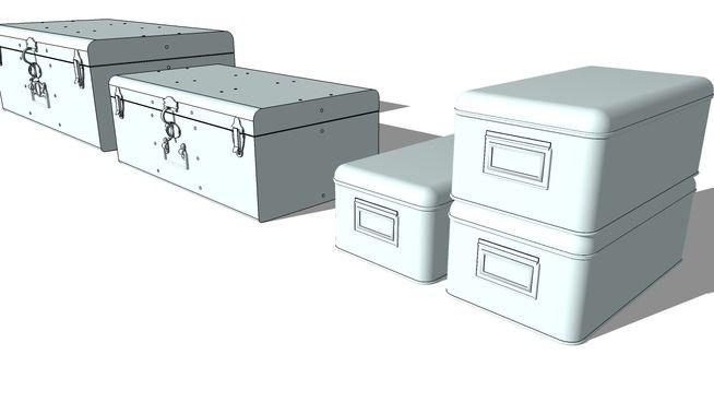 Malles et boites photos 3d warehouse caixas cestos e baús