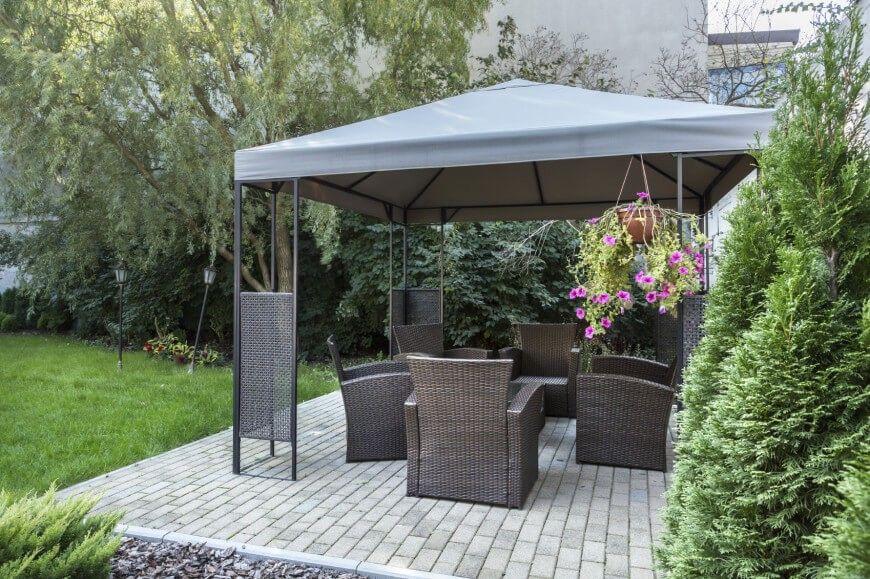 32 Ideen Der Fabelhaften Hinterhof Pavillon Terassenideen Terrassenuberdachung Gartenlaube