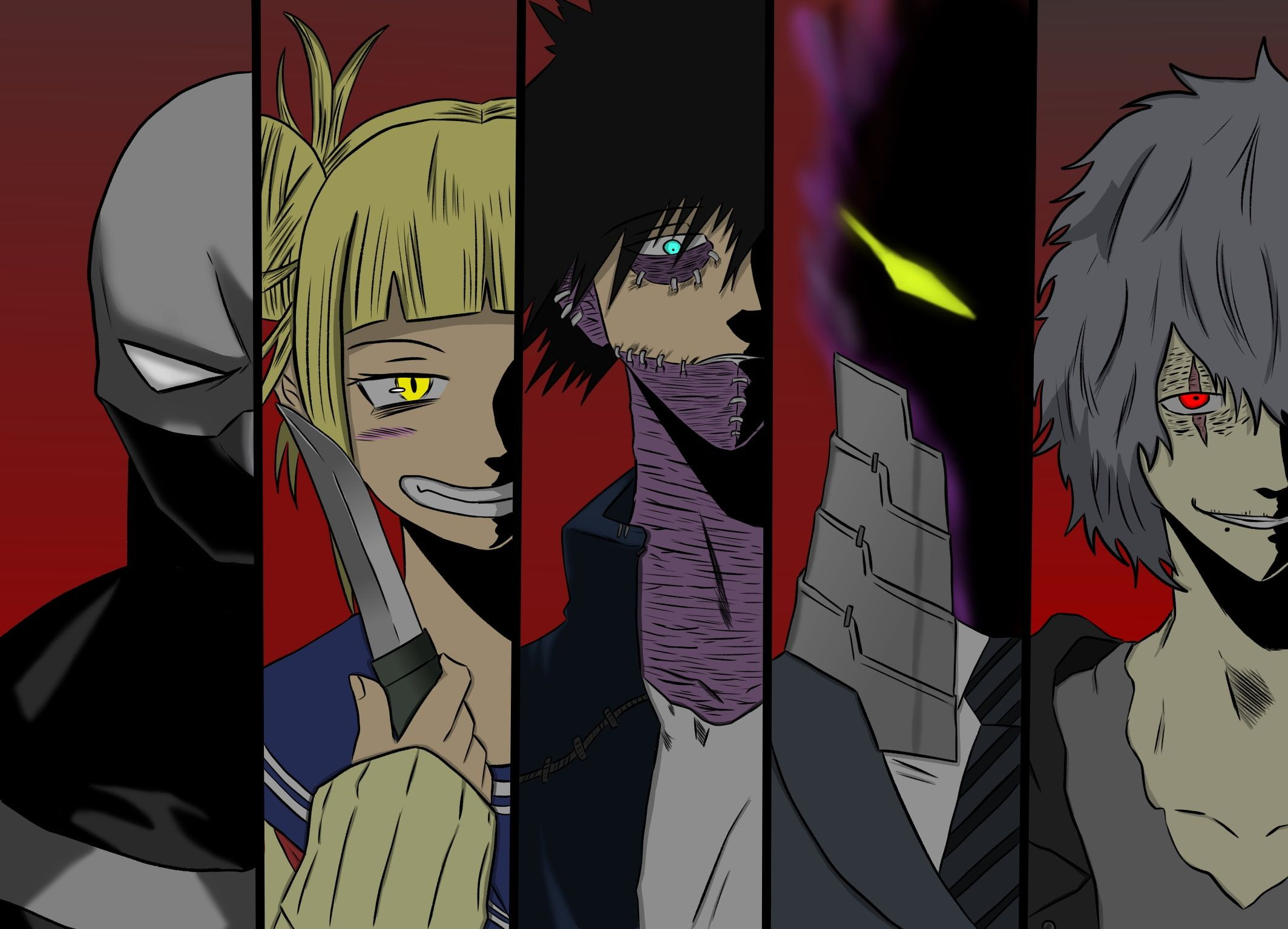 Anime My Hero Academia Dabi Boku No Hero Academia Himiko Toga Jin Bubaigawara Kurogiri Boku No Hero Academia Tom My Hero Tomura Shigaraki My Hero Academia