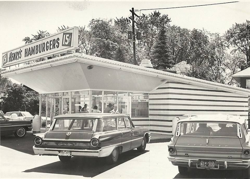 Henrys hamburgers on the curve of forest grand avenue