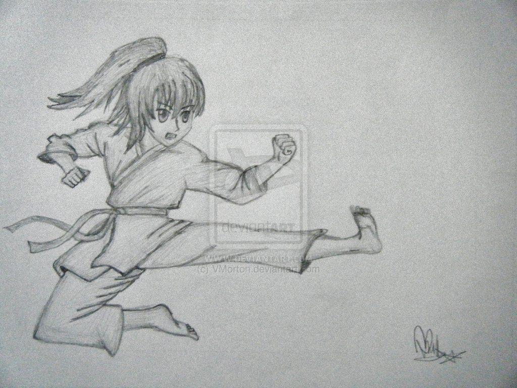 Drawing Of Karate Girl Google Search Girl Drawing Taekwondo Girl Drawings