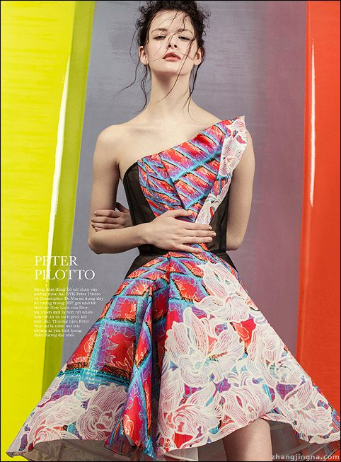 Isabelle Nicolay by Zhang Jingna in Peter Pilotto. Elle Vietnam May 2014