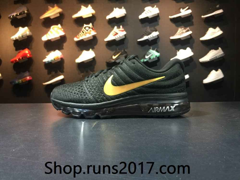 Nike Air Max 2017 Black Red Tick Women Men Latest Shoes
