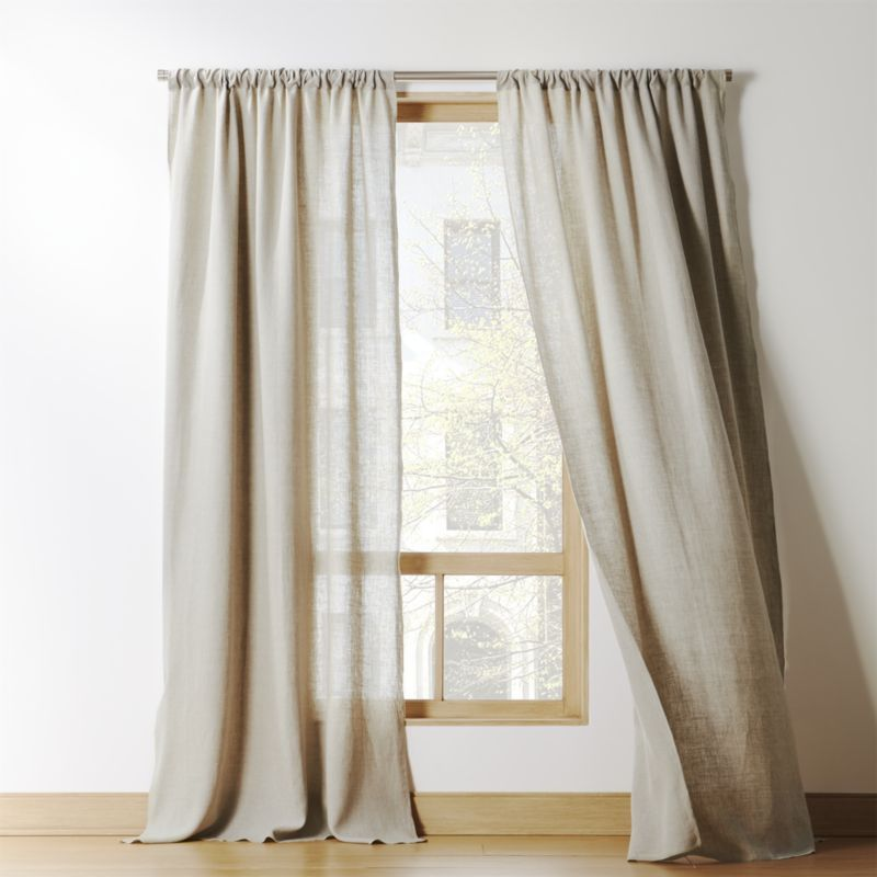 Natural Linen Curtain Panel Cb2 White Linen Curtains Panel Curtains Linen Curtain Panels