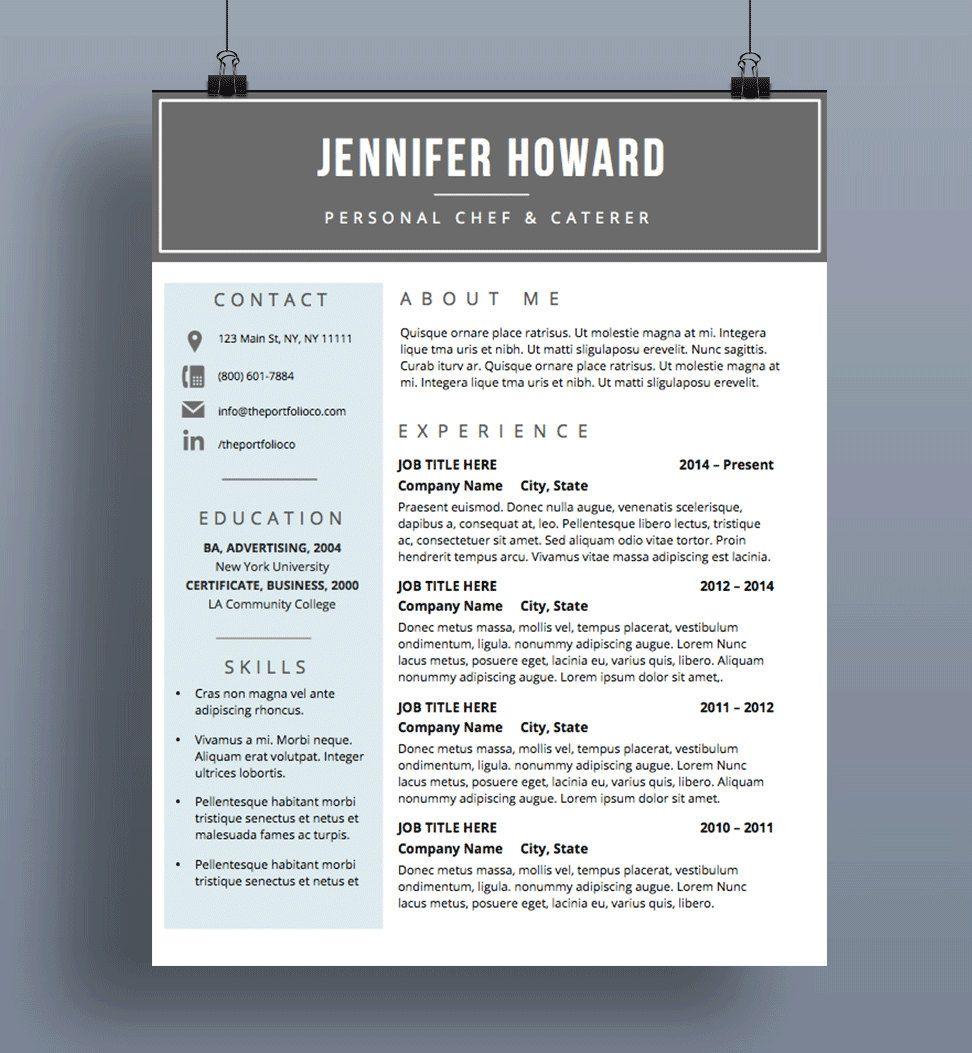 Resume Template CV Template + Cover Letter Modern