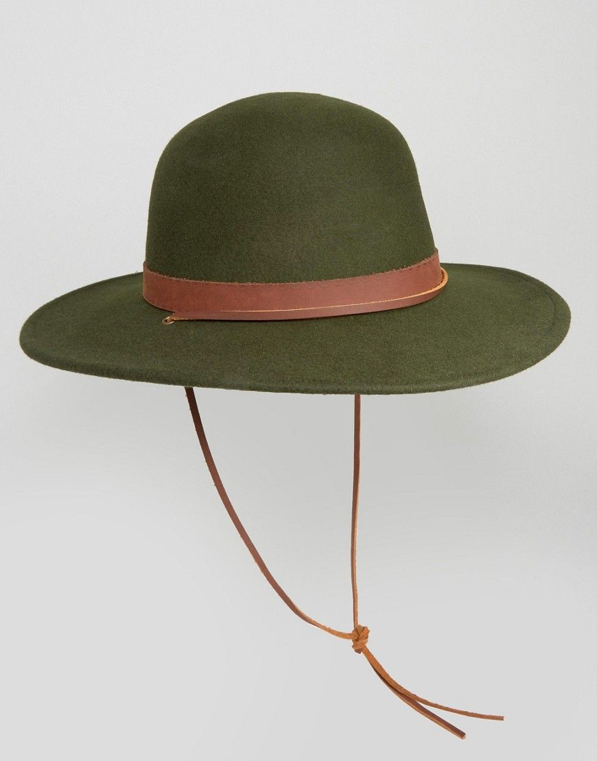 Brixton Deadwood Hat with Wide Brim - Green  a347a83a339