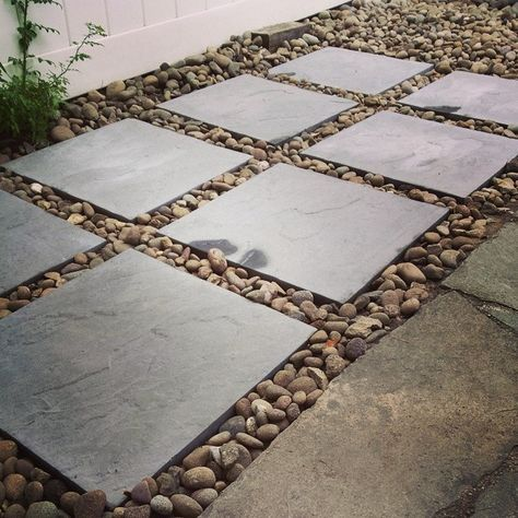We Have A Small Backyard And Tiny Patio And Just Expanded Our Patio By Adding 8 18x18 Paver Stones To The Side Borde Outdoor Remodel Patio Stones Easy Backyard