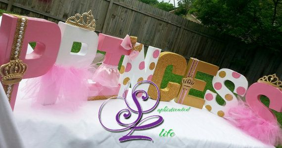 Royal Princess Baby Shower Letters By Sophisticatedlife On Etsy