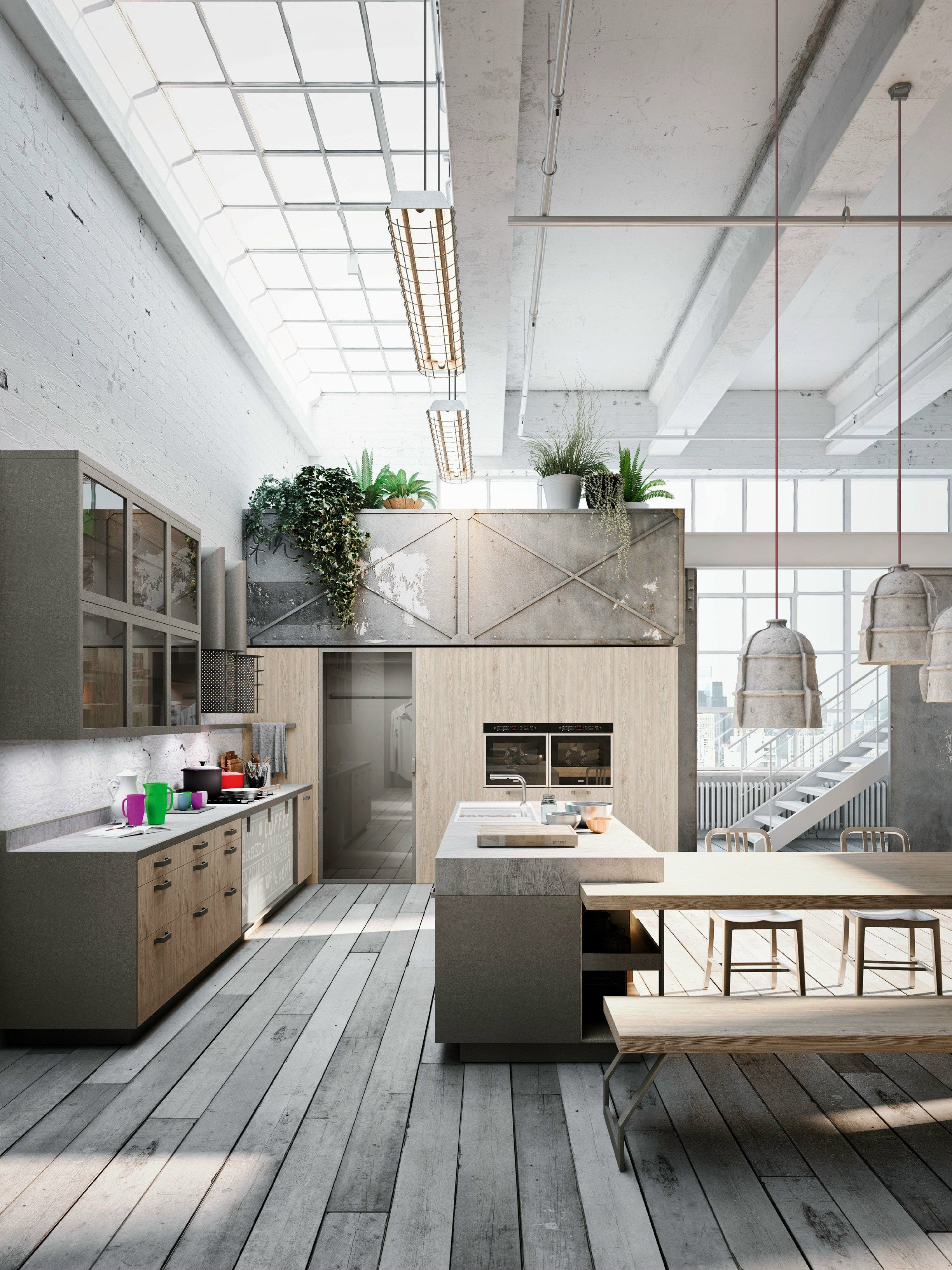 Linear kitchen with island CODE EVOLUTION by Snaidero | design ...
