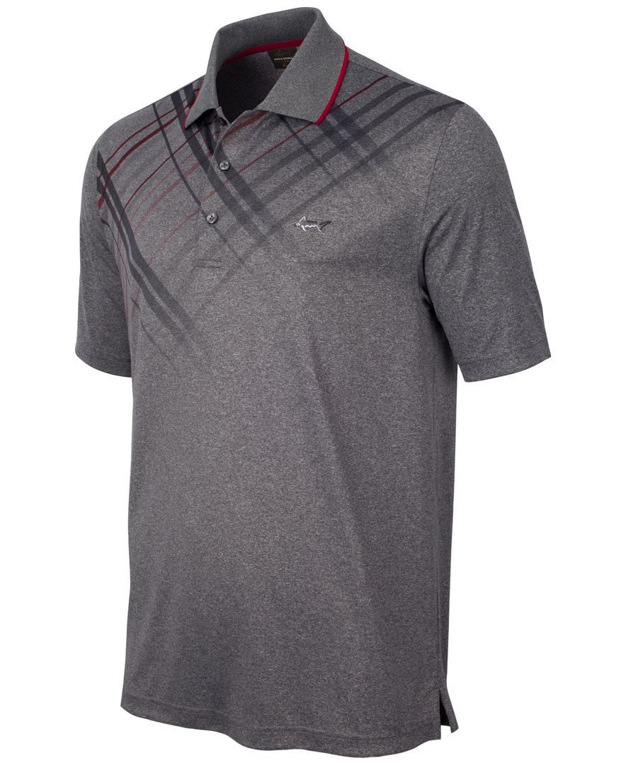 6a5898bd Greg Norman for Tasso Elba Plaid-Trimmed Golf Polo, Only at Macy's ...