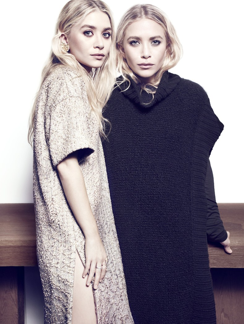 Mary-Kate and Ashley Olsen photographed by Miguel Reveriego for Net a Porter, October 2013