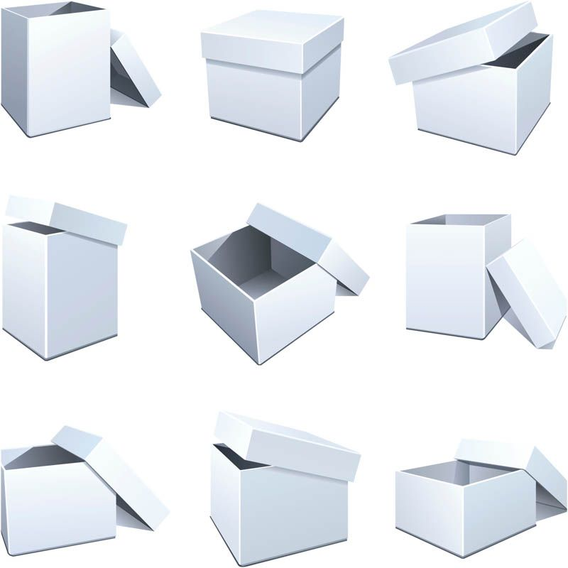 Blank packaging templates vector | Free Vector Graphic Resources ...