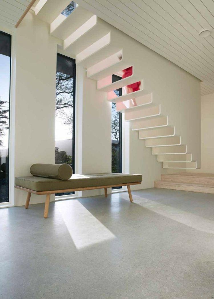 treppe in minimalistischem stil bilder, treppe in minimalistischem stil – 9 weiße designs mit pepp | treppe, Design ideen