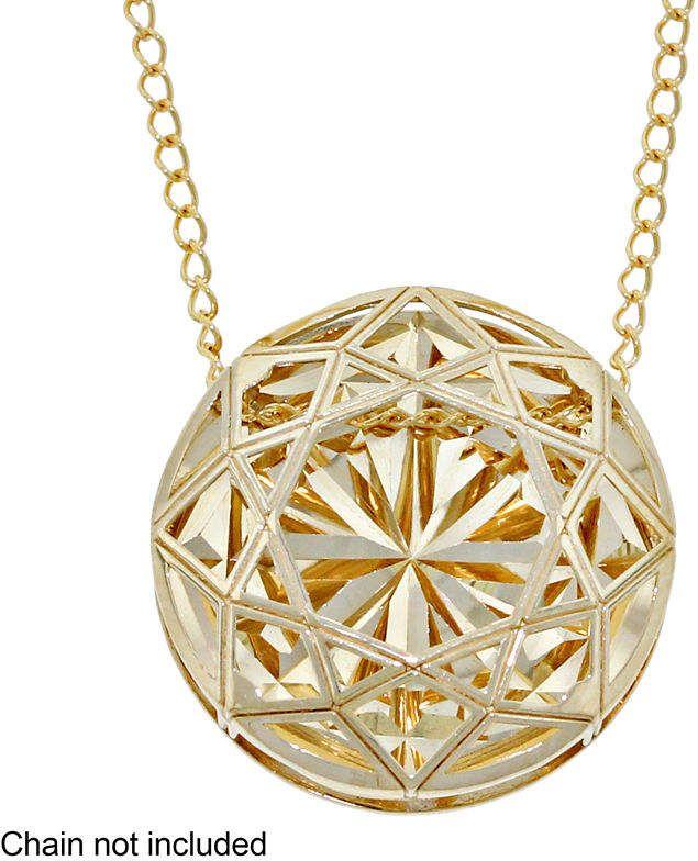 8a587c200a FINE JEWELRY Womens 14K Gold Flower Pendant Yellow Pendants, Round Pendant, Gold  Flowers,