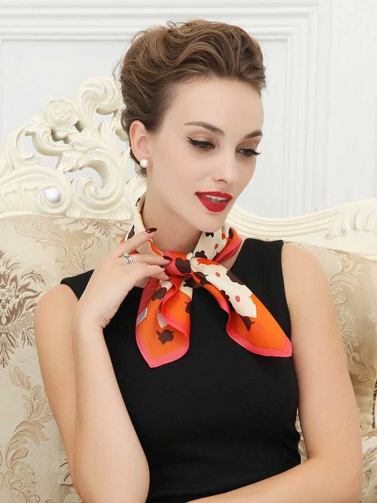 small silk scarf Google Search Scarf trends, Neck