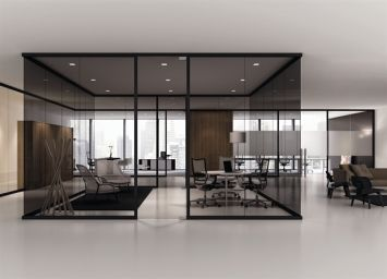 Tinted Glass Partition With Images Modern Office Design