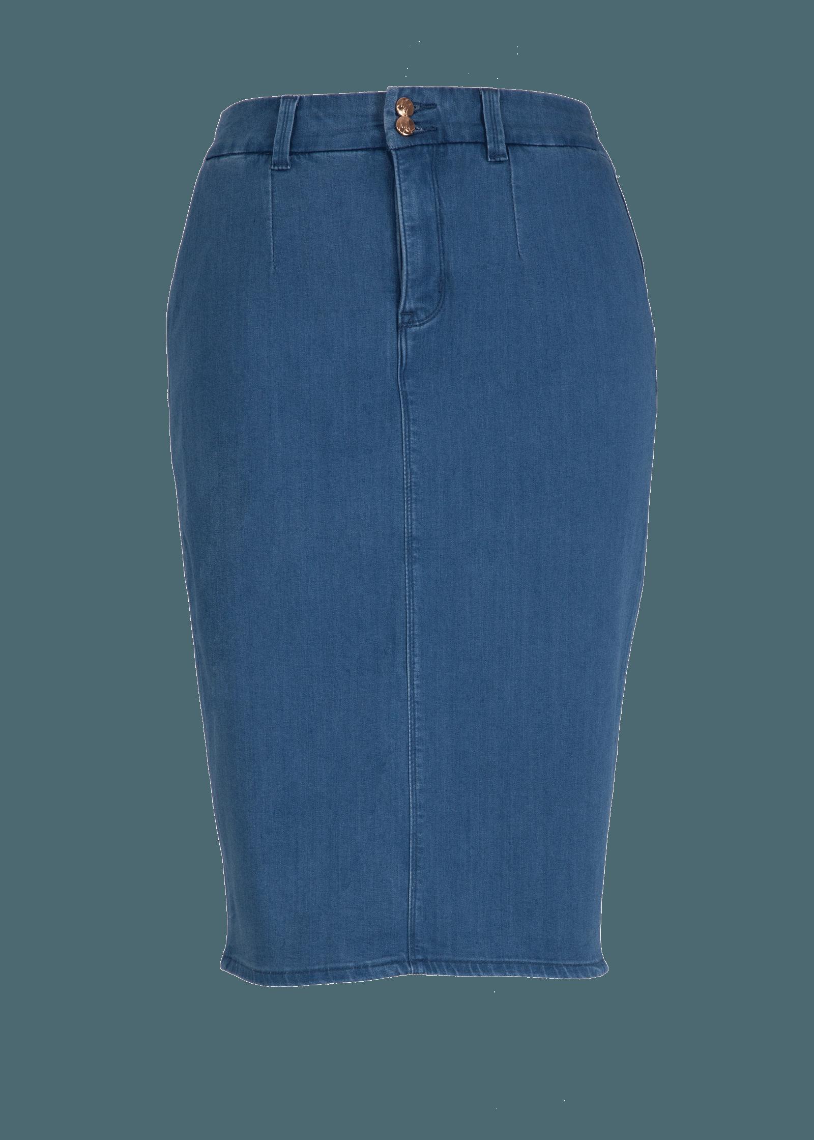 a732417ef Two Button Denim Skirt at Melissa McCarthy Seven7   Midsummer ...