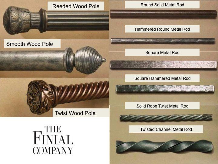 Custom Curtain Rods I Drapery Hardware I Finials Custom Curtain