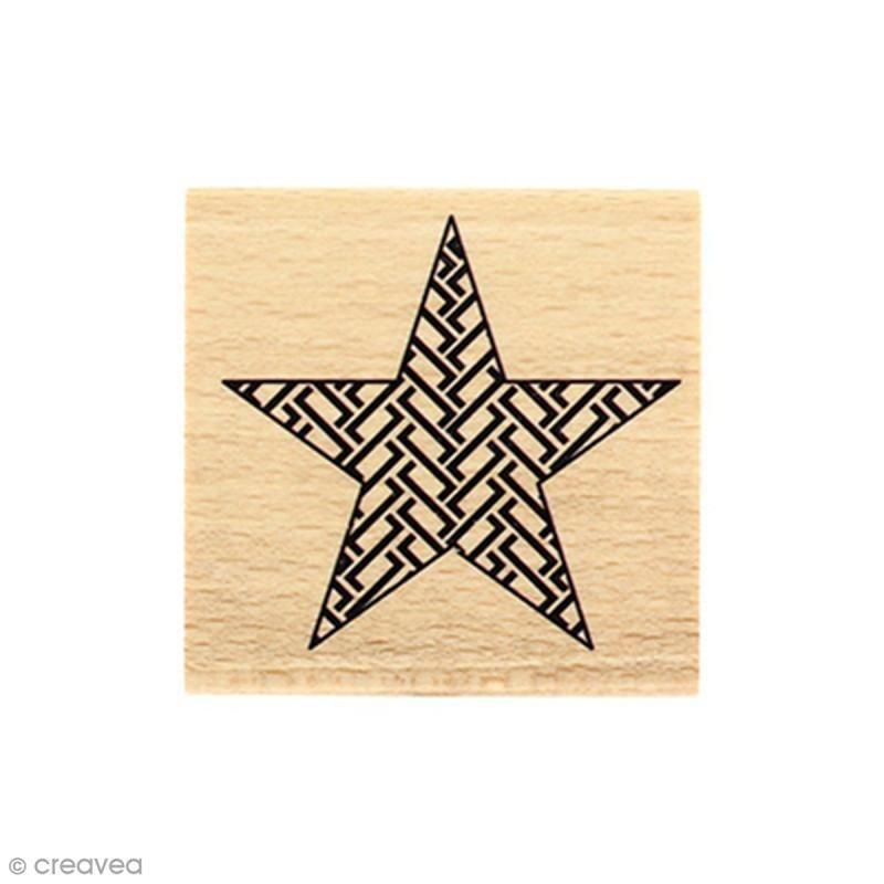 Sello De Madera Estrella Grafica 5 X 5 Cm Sellos Manualidades