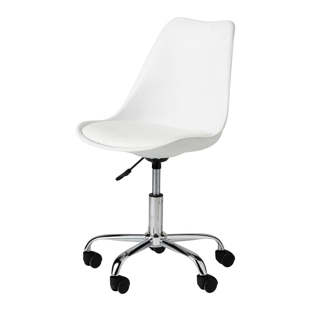 Chaise De Bureau A Roulettes Blanche