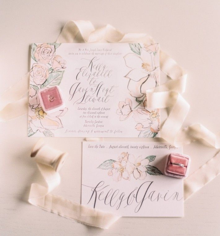 Bella Figura\'s English Garden wedding invitation suite featured ...