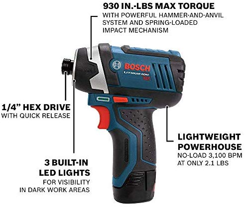 Bosch Power Tools Combo Kit Clpk22 120 12 Volt Cordless Tool Set Drill Driver And Impact Driver With 2 Batteries Charger And Case Combo Kit Cordless Tools Drill Driver