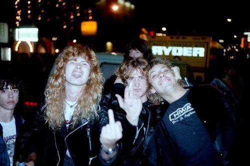 Dave Mustaine, David Ellefson & Gar Samuelson - Megadeth