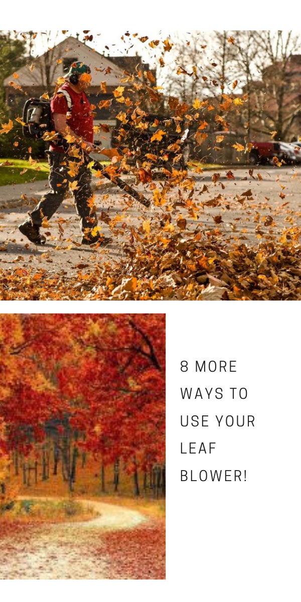 Leaf Blower Techniques 8 More Ways To Use Your Leaf Blower Cleaning Gutters Leaf Blower Blowers