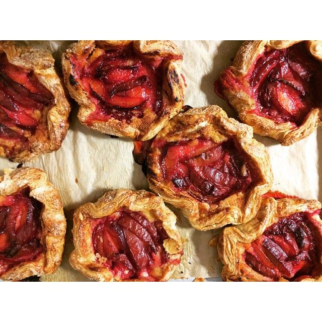 Instagram media by marlabakery - Flavor Supreme and Rose Saffron Almond Frangipan galettes today.