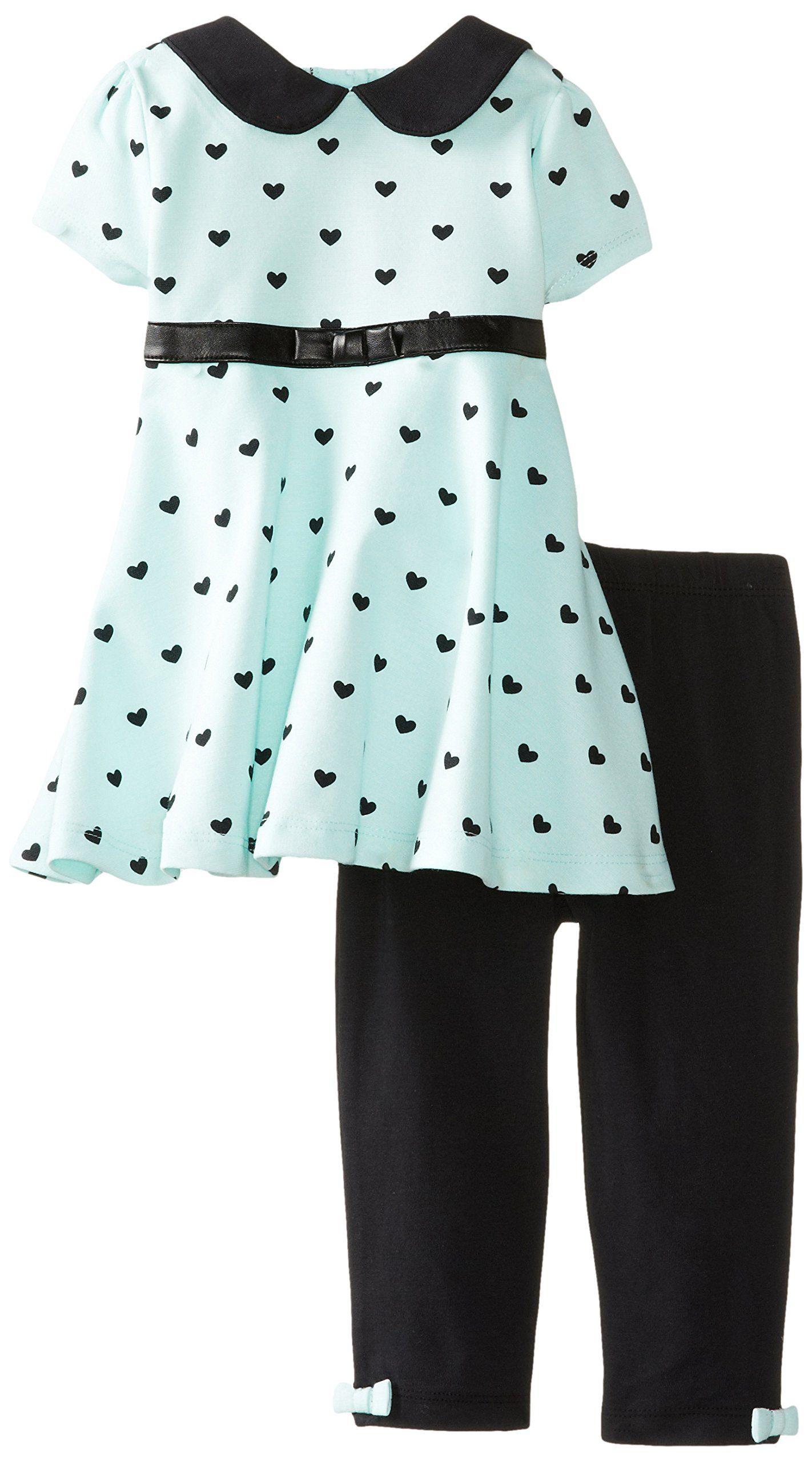 Amazon.com: Little Me Baby-Girls Infant Heart Ponte Dress and Legging Set: Clothing